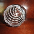 "Large Baccarat Crystal Cyrille Optic Swirl  Vase  10"" tall -  Retired Pattern"
