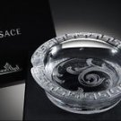 "Versace Arabesque Crystal Ashtray in the original box measures 4.5"" diameter"