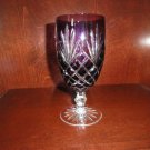 Faberge Crystal Odessa Purple  Water  or Ice Tea Beverage Glass
