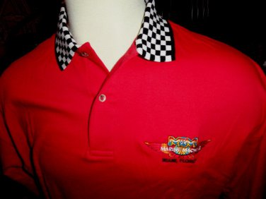 Red Checkered Polo Shirt 100% Cotton new in the bag