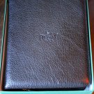 pheasant by R.D.Gomez made in Spain Black  Leather  Cigar Case