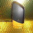 Cohiba Black & Gold Leather Cigar Case holds 3 Robusto size