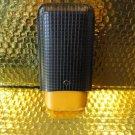 Cohiba Black & Gold Leather Cigar Case holds 3 Large without original box