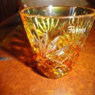 Faberge Na Zdorovya Vodka Crystal Yellow Edition Single Shot Glass