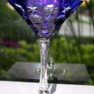 Faberge Cobalt Blue  Martini Glass without the  original presentation box