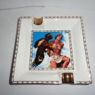 God of Fire Bone China Cigar Ashtray Blue & White new in the original box