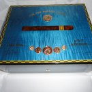 Elie Bleu Medals Blue  Sycamore  Humidor 75  Count new in original box