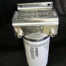 Marine Machine fuel filter assembly made of billet alum unpolished finish NIB