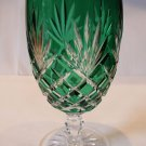 Faberge Crystal Odessa Sky Emerald Green Water  or Ice Tea Beverage Glass