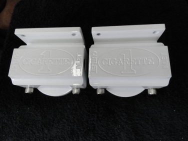 fuel filters  made of billet alum white power coated