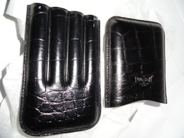 Pheasant by R.D.Gomez made in Spain Black Cigar Case without the original box