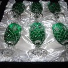 Faberge Emerald Green  Odessa Water or Ice Tea Beverage Glasses without box