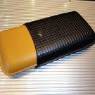 Cohiba Black Leather Cigar Case holds 3 large size cigars without original box