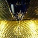 Faberge Odessa Cobalt Blue Hock Crystal Goblet without box
