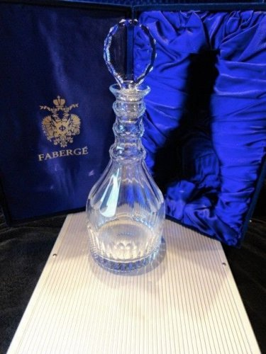 Faberge  Crystal  Decanter new in the box