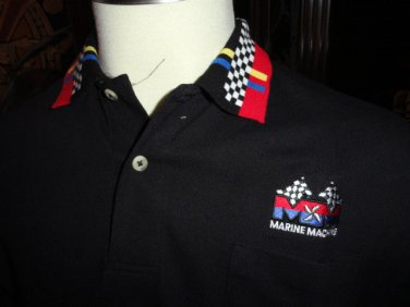 Black Checkered Polo Shirt 100% Cotton new in the bag
