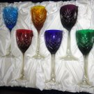 Faberge Odessa  Hock Crystal Goblets  set of 6 in the original box