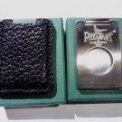 Pheasant by R.D.Gomez Stainless Steel Cigar Cutter in Black Karabu Leather BNIB