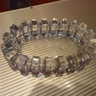 clear glass sprocket cigar ashtray