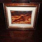 "Famous cigar band signed print 22"" X 18""  brushed gold framed"