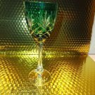 Faberge Emerald  Green Odessa Hock Crystal Wine Glass new without box