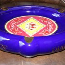 Diamond Crown Ceramic Cigar Ashtray Large size holds 3 cigars with slots
