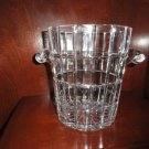 "Metropolitan Clear Cut Pattern Ice Bucket made in Poland  9"" Tall by 7.75"" dia."