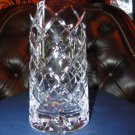 """Faberge Crystal Glass  5"""" tall with 2 7/8"""" opening new without box"""