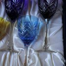 Faberge Odessa  Hock Crystal Wine Glass set of 3 without the original box
