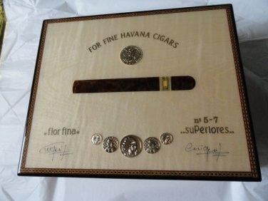Elie Bleu Medals Natural Sycamore  Humidor 75 Ct new in the original box