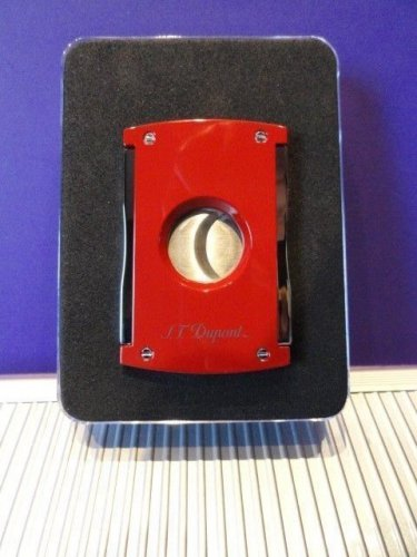 S.T.Dupont  Cigar Cutter in red lacquer with Leather Pouch BNIB
