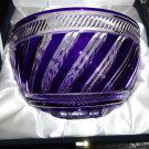 "FABERGE  BOWL 10"", COBALT BLUE CASED CRYSTAL, SIGNED, NEW IN ORIGINAL BOX"
