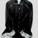Envy Collection  mens Large slim fit Black casual designer shirt