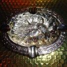 "Bird style brass chromed plated ashtray 7"" L x 5.5"" W"