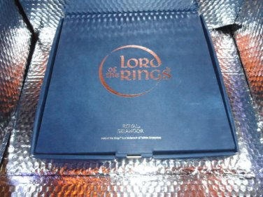 """Royal Selangor The Fellowship of the Ring """" Collector's Pewter Plate new in box"""