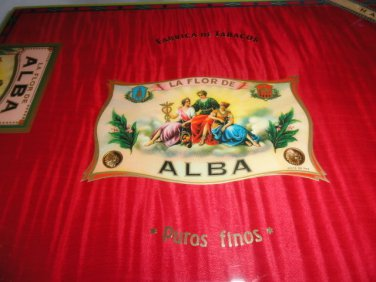 Elie Bleu Flor de Alba Red Humidor 300 Count NIB Made in France