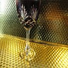 Faberge  Purple Odessa Hock Crystal Wine Glass new without box