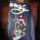 "Ed Hardy Designer Denin Jeans Waist 30"" Waist x 34"" L"