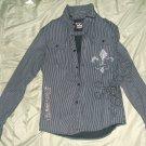 Bulzep black label mens casual dress shirt large