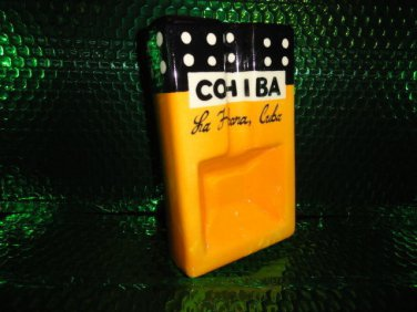 "Cohiba ceramic cigar ashtray handmade measures 7 3/4"" L x 4 1/2"" W X 2"" H"