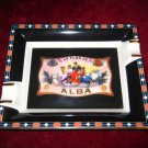 Elie Bleu Flor de Alba Black Ashtray new in the original box made in France