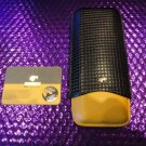 Cohiba Black & Gold Leather Cigar Case holds 3 Large without the box
