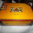 Elie Bleu Flor de Alba Gold Yellow Humidor 200 Ct new in the original box