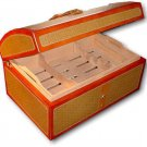 Royal Jamaican Gold Rattan Humidor New in the Box