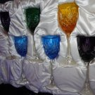 Faberge Crystal  Assorted Wine Glasses  set of 6 in presentation box