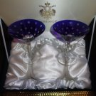 Faberge Crystal Galaxy  Martini Glasses set of 2 in the original  Faberge Box