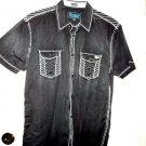 Men's Roar Signature Short  Sleeve Button Up Shirt Size Large