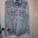 Men's Roar Signature Long  Sleeve Button Up Shirt Size Medium