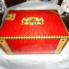Elie Bleu  Alba Red Humidor 300 Count NIB Made in France