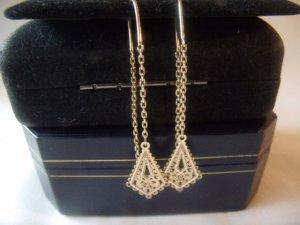 18 kt Gold Chain Threader Drop Earrings